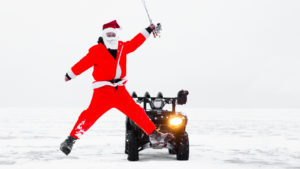 Santa visits Lake Winnipeg